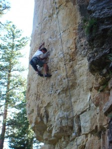 Me climbing in Spearfish Canyon